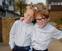 A NINE-YEAR-OLD boy who dreams of walking with his twin brother has taken his first steps....just a year after a life-changing operation.
