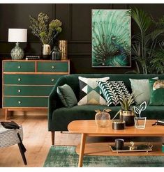 80 Awesome Mid Century Modern Design Ideas is part of Stylish bedroom decor - Modern wood Lamp Dining Rooms 80 Awesome Mid Century Modern Design Ideas Living Room Green, Green Rooms, Bedroom Green, Decor Scandinavian, Industrial Scandinavian, Mid Century Living Room, 1960s Living Room, Stylish Bedroom, Bedroom Modern
