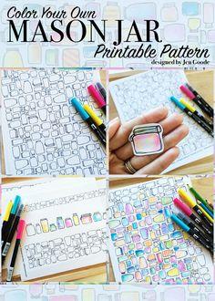 Mason Jar Printable Pattern And Craft Accessories