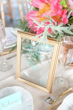 Table Numbers, Glass table numbers, reception tables, summer wedding, elegant wedding