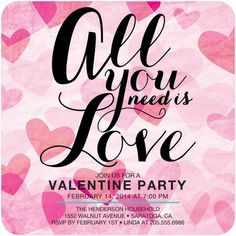 Love is in the air Valentine's Day Invitation | HP_VAL4