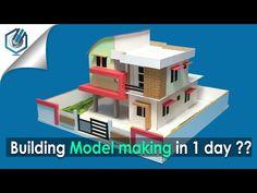 Foam Board Model Making House Architectural Model Part 2 - YouTube
