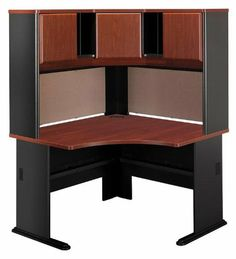 Corner Desk with Hutch GKA048 by Bush. $1099.00. Choose from 7 finishes. Grommets for wire management. 2 full width tackboards. Durable Diamond Coat top surface. MDF construction. Corner Desk with HutchbyBush Trusted: 20+ Years Experience. Overall: 47.25 in W x 47.25 in D x 66.38 in H , Worksurface Depth: x 26.88 in D ,. Save 38%!