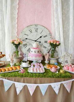 Tea party,  vintage Alice and wonderland