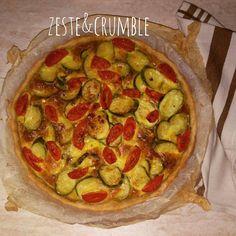 Torta salata zucchine e pomodorini datterino - la ricetta sul mio blog.