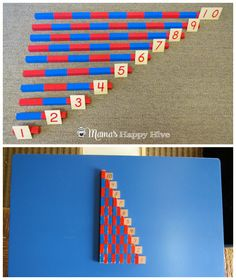 Number Rods and Table Top - www.mamashappyhive.com