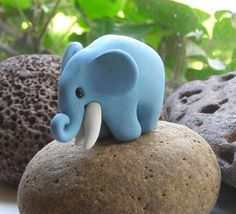 Plasticine elephant! (I always used to make snails out of plasticine when i was younger)