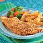 I tried this for dinner and it turned out really yummy... no more fried fish! Crispy Oven-Fried Fish Fillets Recipe
