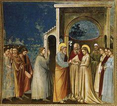 GIOTTO di Bondone (Italian: 1267 - 1337) - The Marriage of the Virgin, 1305