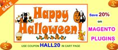 Halloween offer started for #magento extensions. Get 20% off using coupon HALL20 in cart page. http://mage-extensions-themes.com/magento-extensions.html