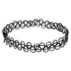 JQUEEN Black Gothic Stretch Elastic Double Line Henna Tattoo Choker... ($4.50) ❤ liked on Polyvore featuring jewelry, necklaces, accessories, choker, bijoux, tattoo choker necklaces, collar necklace, stretch choker, tattoo necklace and pendant necklace