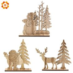 Buy Natural Christmas Wooden Ornaments DIY Wood Crafts For Home Table Decorations Christmas Party Supplies Kids Gift Natural Christmas, Christmas Colors, Diy Christmas Gifts, Rustic Christmas, Decor Crafts, Wood Crafts, Diy Wood, Wood Wood, Diy Party Decorations