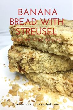 Treat yourself to a slice of the best Banana bread - a rum flavored and moist loaf cake with a crispy streusel topping and lots of bananas. Single Serve Desserts, Desserts For A Crowd, Great Desserts, Party Desserts, Best Dessert Recipes, Delicious Desserts, Yummy Food, Tasty, Brown Sugar Banana Bread