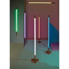 The Seletti Linea Fluorescent Neon Lamp redefines the stylistic approach of neon lamps, by transforming them into a stylish, sleek, minimalist light source. Neon Tube Lights, Fluorescent Tube Light, Neon Lighting, Strip Lighting, Neon Gas, Church Stage Design, Style Deco, Fluorescent Lamp, Led Lamp
