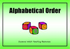 Alphabetical order activity for the classroom. Word Study, Word Work, Alphabetical Order, Some Words, Teaching Resources, Literacy, Classroom, Student, Lettering