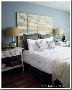 Looking for DIY Headboard Ideas? There are so many economical means to produce a special one-of-a-kind headboard. We share a few brilliant DIY headboard ideas, to influence you to design your bedroom chic or rustic, whichever you favor. Bed Without Headboard, Faux Headboard, Queen Headboard, Homemade Headboards, Diy Headboards, Headboard Designs, Headboard Ideas, Storage Headboard, Bedroom Decor