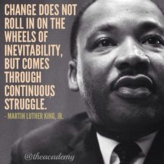 Martin Luther King on change