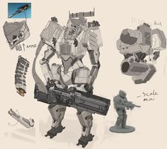 Mech miniature , Kasim Lewis on ArtStation at https://www.artstation.com/artwork/oA1eO ★ || CHARACTER DESIGN REFERENCES™ (https://www.facebook.com/CharacterDesignReferences & https://www.pinterest.com/characterdesigh) • Love Character Design? Join the #CDChallenge (link→ https://www.facebook.com/groups/CharacterDesignChallenge) Share your unique vision of a theme, promote your art in a community of over 40.000 artists! || ★
