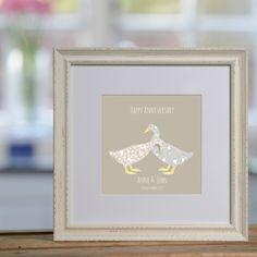 Pair of Ducks personalised print £48