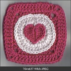 Heart to Circle to Square Motif free crochet pattern