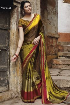 atisundar Gold - dedicated to all you angels and your golden hearts.   Go here to buy:  Go here to buy:  http://www.atisundar.com/collections/new-this-week/products/atisundar-beauteous-golden-rust-colored-saree