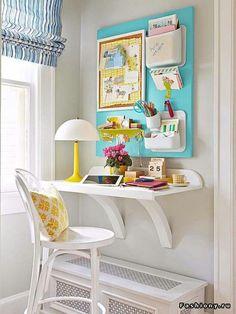 стол, закреплённый на стене