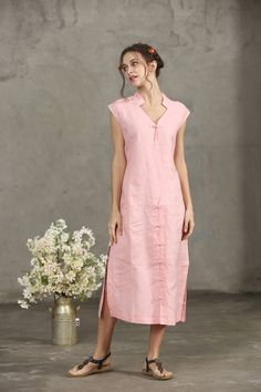 ideas for sewing clothes women tunics etsy Linen Dresses, Cute Dresses, Casual Dresses, Summer Dresses, Maxi Dresses, Sewing Clothes Women, Clothes For Women, Make Your Own Dress, Oversized Dress