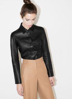Chemise cuir - Chemises et blouses - Prêt-à-porter - Uterqüe France