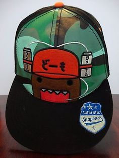 8d9836043e29e Domo Face Drink Hat Animation Snapback Japanese Flat Bill Character Hat Cap