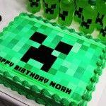Homemade Minecraft Creeper Cake Ideas and Designs Minecraft Birthday Cake, Minecraft Cake, Minecraft Font, Minecraft Printable, Minecraft Ideas, 6th Birthday Parties, Boy Birthday, Birthday Ideas, Fourth Birthday