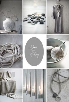 moodboard - soft grey.. voor meer inspiratie www.stylingentrends.nl of www.facebook.com/stylingentrends