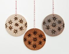 Son of a Sailor Supply #wood #woodburn #ornaments #modern #design