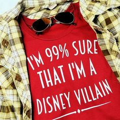 HP!  99% Sure I'm A Disney Villain Shirts  99% Sure I'm A Disney Villain Shirt Two sizes ready to ship. Xl blue or small purple. Women's (ladies) standard fit. Other sizes and colors available for $5 more. Bundle save! Tops Tees - Short Sleeve