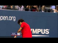 Don't try it this week end...Roger Federer Best Shot Ever-US OPEN 2009 HD
