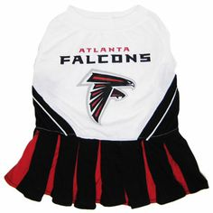 Atlanta Falcons Cheerleader Dog Dress - Pets First Get your dog ready to cheer for the team with an officially licensed NFL dog cheerleader outfit designed with the Atlanta Falcons team colors and logo! Nascar, Atlanta Falcons Team, Messi Gif, Jerseys Nfl, Cheerleading Outfits, Nfl Fans, Nfl Cheerleaders, Dog Dresses, Pet Clothes