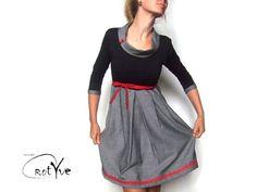 ♥ friedegunde ♥ knielanges kleid, spitze, kragen von RotYve auf DaWanda.com