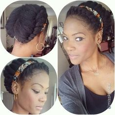 Check out @misskyrstal's fab twisted updo! Great protective style