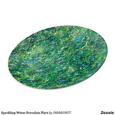 Sparkling Water Porcelain Plate