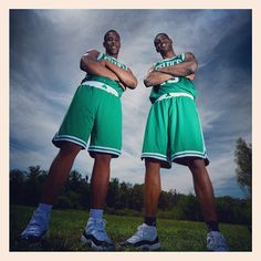 #Celtics Jared Sullinger and Fab Melo pose at the #NBA rookie photo shoot today. #iamaceltic