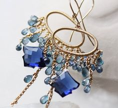 Reserved for J  Blue Sapphire Topaz Iolite by modesteparisienne