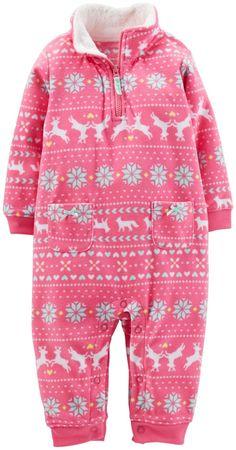 Carter's Fleece Romper - Pink