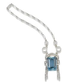 Aquamarine And Diamond Brooch/Necklace By Bulgari  Bonham's