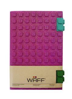 WAFF Glitter Notebook - Fuchsia / Large