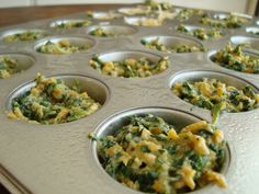 Spinach and Sweet Potato Quiche- 2 P+ per full sized muffin using recipe builder!!