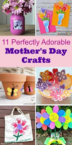 Mother's Day Crafts - Need some great Mother's Day gift ideas? Let the kids create homemade gifts this year with these super cute Mother's Day craft ideas. via @funmoneymom