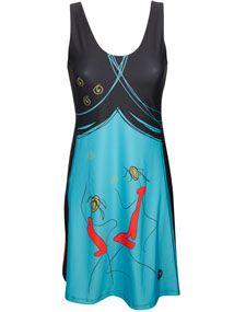 imprimé en beauté Volt Design, Athletic Tank Tops, Clothes, Fashion, Color Blue, Dress, Woman, Outfits, Moda