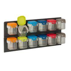 Flip-12 Wall-Mounted Storage Organizer, Multi-Colored