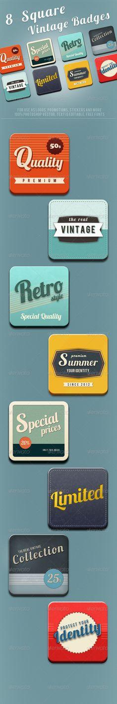 retro square button / good inspiration for app icon