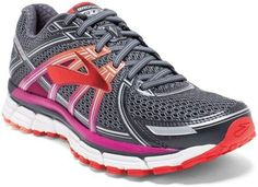 Brooks Adrenaline GTS 17 Road-Running Shoes - Women's. Color: Anthracite/Festival Fuchsia