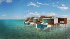 A 70 villa surf resort consisting of a mix of beach and water villas. Water Villa, Maldives, Villas, Surfing, Cabin, House Styles, Beach, Home Decor, The Maldives